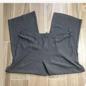 Eileen Fisher Pant 100% Silk Georgette 2X